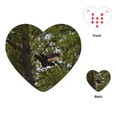 Bald Eagle Playing Cards (heart)  by timelessartoncanvas