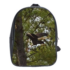 Bald Eagle School Bags(Large)  by timelessartoncanvas