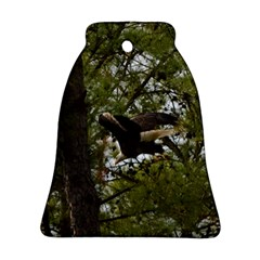 Bald Eagle Bell Ornament (2 Sides) by timelessartoncanvas