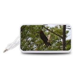 Bald Eagle 2 Portable Speaker (white)  by timelessartoncanvas