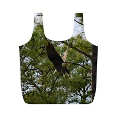 Bald Eagle 2 Full Print Recycle Bags (m)  by timelessartoncanvas