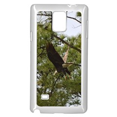 Bald Eagle 2 Samsung Galaxy Note 4 Case (White) by timelessartoncanvas