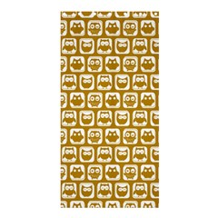 Olive And White Owl Pattern Shower Curtain 36  X 72  (stall)  by creativemom