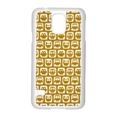 Olive And White Owl Pattern Samsung Galaxy S5 Case (White) by creativemom