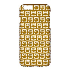 Olive And White Owl Pattern Apple Iphone 6 Plus/6s Plus Hardshell Case by creativemom