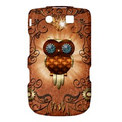 Steampunk, Funny Owl With Clicks And Gears Torch 9800 9810 by FantasyWorld7