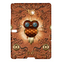 Steampunk, Funny Owl With Clicks And Gears Samsung Galaxy Tab S (10 5 ) Hardshell Case  by FantasyWorld7