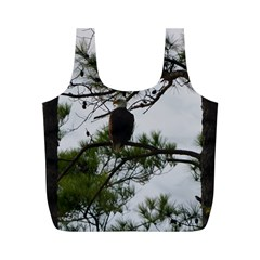 Bald Eagle 3 Full Print Recycle Bags (m)  by timelessartoncanvas