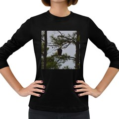Bald Eagle 4 Women s Long Sleeve Dark T Shirts by timelessartoncanvas