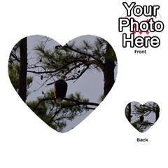 Bald Eagle 4 Multi-purpose Cards (Heart)  by timelessartoncanvas