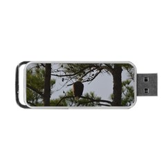 Bald Eagle 4 Portable USB Flash (One Side) by timelessartoncanvas