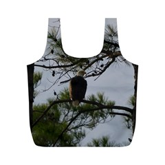 Bald Eagle 4 Full Print Recycle Bags (m)  by timelessartoncanvas