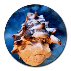 Sea Shell Spiral Round Mousepads by timelessartoncanvas