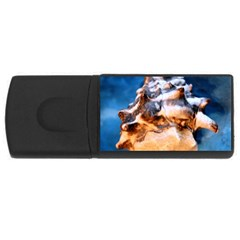 Sea Shell Spiral Usb Flash Drive Rectangular (4 Gb)  by timelessartoncanvas
