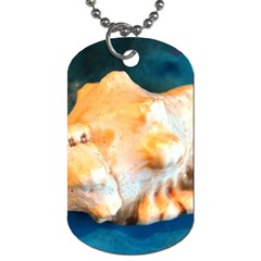 Sea Shell Spiral 2 Dog Tag (two Sides) by timelessartoncanvas