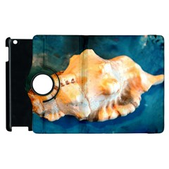Sea Shell Spiral 2 Apple Ipad 3/4 Flip 360 Case by timelessartoncanvas
