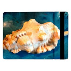 Sea Shell Spiral 2 Samsung Galaxy Tab Pro 12 2  Flip Case by timelessartoncanvas