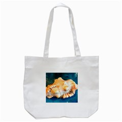 Sea Shell Spiral 2 Tote Bag (white)  by timelessartoncanvas