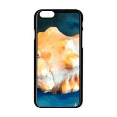 Sea Shell Spiral 2 Apple Iphone 6 Black Enamel Case by timelessartoncanvas