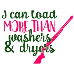 I Can Load More Than Washers And Dryers Birthday Cake 3d Greeting Card (7x5)