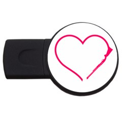 Customizable Shotgun Heart Usb Flash Drive Round (2 Gb)  by CraftyLittleNodes