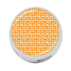 Yellow And White Owl Pattern 4 Port Usb Hub (two Sides)  by creativemom