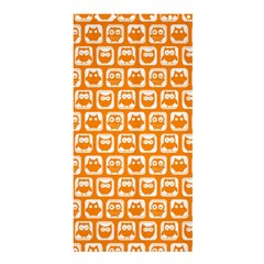 Yellow And White Owl Pattern Shower Curtain 36  X 72  (stall)  by creativemom