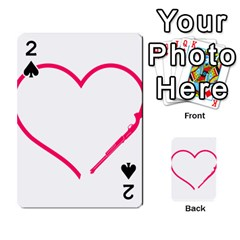 Customizable Shotgun Heart Playing Cards 54 Designs  by CraftyLittleNodes