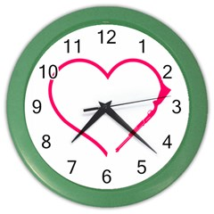 Customizable Shotgun Heart Color Wall Clocks by CraftyLittleNodes