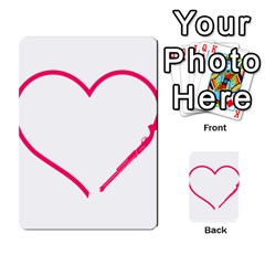 Customizable Shotgun Heart Multi Purpose Cards (rectangle)