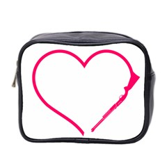 Customizable Shotgun Heart Mini Toiletries Bag 2 Side by CraftyLittleNodes