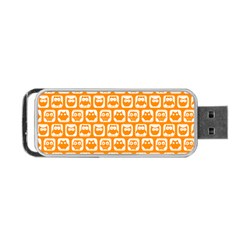 Yellow And White Owl Pattern Portable Usb Flash (one Side) by creativemom