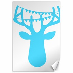 Party Deer With Bunting Canvas 24  X 36  by CraftyLittleNodes