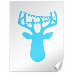 Party Deer With Bunting Canvas 36  X 48   by CraftyLittleNodes