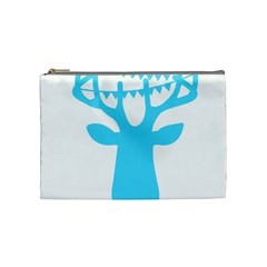 Party Deer With Bunting Cosmetic Bag (medium)  by CraftyLittleNodes