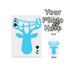 Party Deer With Bunting Playing Cards 54 (mini)  by CraftyLittleNodes