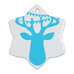 Party Deer With Bunting Snowflake Ornament (2 Side) by CraftyLittleNodes