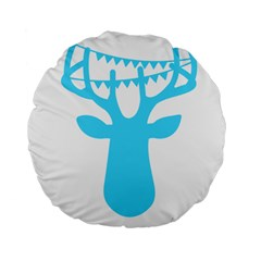 Party Deer With Bunting Standard 15  Premium Round Cushions by CraftyLittleNodes
