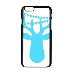 Party Deer With Bunting Apple Iphone 6 Black Enamel Case by CraftyLittleNodes