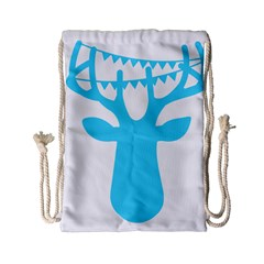 Party Deer With Bunting Drawstring Bag (small) by CraftyLittleNodes