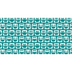 Teal And White Owl Pattern You Are Invited 3d Greeting Card (8x4)  by creativemom