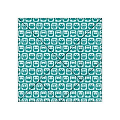 Teal And White Owl Pattern Acrylic Tangram Puzzle (4  X 4 ) by creativemom