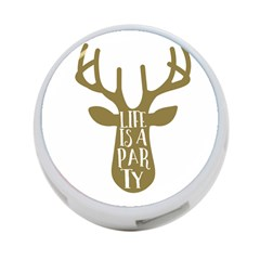Life Is A Party Buck Deer 4 Port Usb Hub (one Side) by CraftyLittleNodes