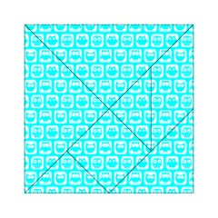 Aqua Turquoise And White Owl Pattern Acrylic Tangram Puzzle (6  x 6 ) by creativemom