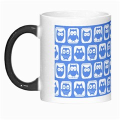 Blue And White Owl Pattern Morph Mugs by creativemom