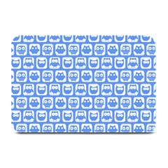 Blue And White Owl Pattern Plate Mats by creativemom