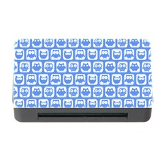 Blue And White Owl Pattern Memory Card Reader With Cf by creativemom
