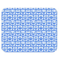 Blue And White Owl Pattern Double Sided Flano Blanket (medium)  by creativemom