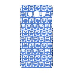Blue And White Owl Pattern Samsung Galaxy A5 Hardshell Case  by creativemom