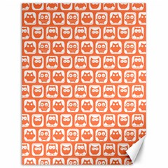 Coral And White Owl Pattern Canvas 12  x 16   by creativemom